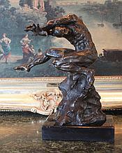 Tortured Male Nude Bronze Sculpture