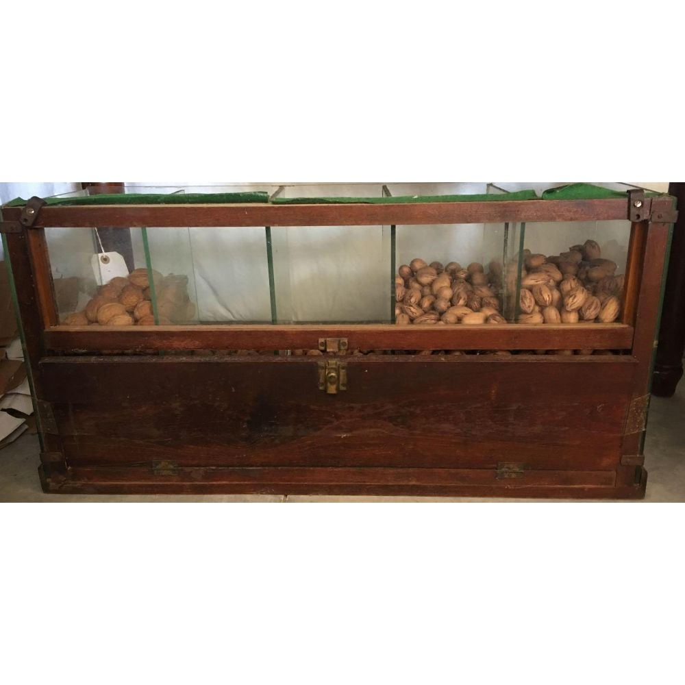 Early 20thc Wooden Country Store Nut Candy Display Bin