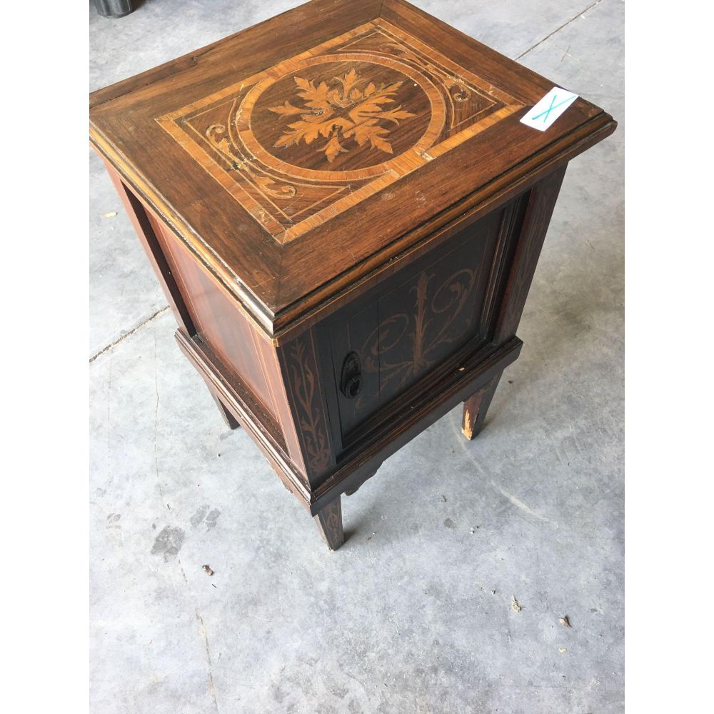 Matching Pair of Italian Inlaid End Tables