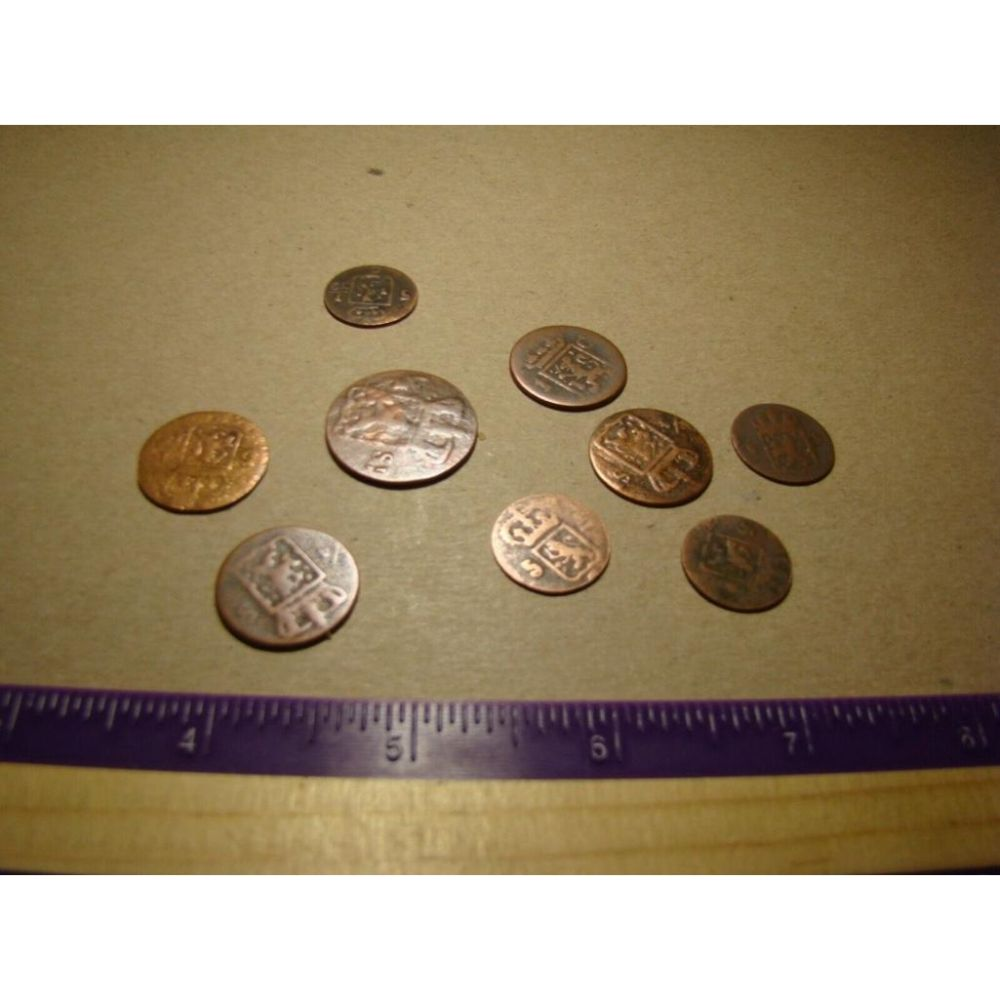 Collection of Early 1800's Dutch Spice Trade Shipwreck Coins