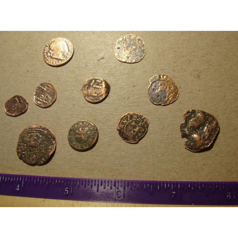 Collection of Spanish Coins, 1700's & Earlier, Ferdinand & Isabella