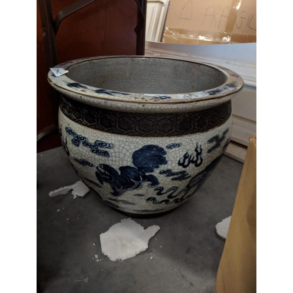 Large Antique Urn with Beautiful Crazing