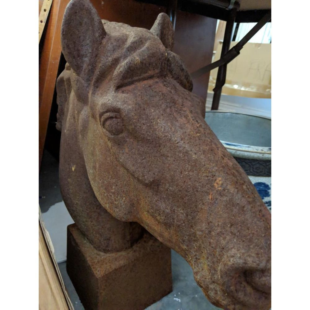 Pair of Cast Iron Horse Heads