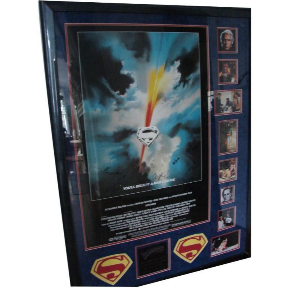 1978 Superman, Entire Cast Signed Movie Poster