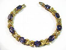 18K Gold Plated Amethyst Tennis Bracelet