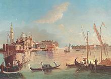 5x7 Oil on Board Depiciting Venice, Gondola Scene