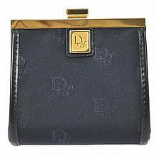 Christian Dior Blue Nylon Coin Purse