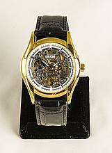 Men's Contemporary Skeleton Stainless Steel Watch