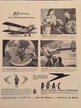 1946 British Airways Magazine Advertisement