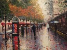 Style of Edouard Cortes, Paris Street Scene