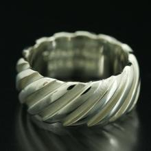 Signed Tiffany & Co Sterling Twist Ring