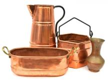 Collection of Antique Copper Vessels