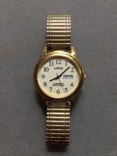 Men's Lorus Lumibrite Gold-Plated Wristwatch