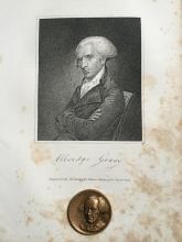 19thc Engraving & Medallion, Vice President Gerry