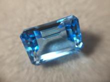 9.97ct Octagon Facet Swiss Blue Topaz