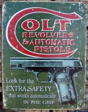 Retro Style Ad Antique Style Colt Gun Metal Sign