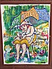Signed James Malone, Primitive Folk Art Painting, James H. Malone, Click for value
