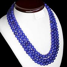 977.00 ct Triple Strand Natural Sapphire Necklace