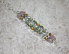 Multi-Colored Quartz .925 Sterling Silver Bracelet