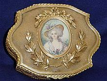 French MINIATURE SIGNED Dore JEWELRY BOX