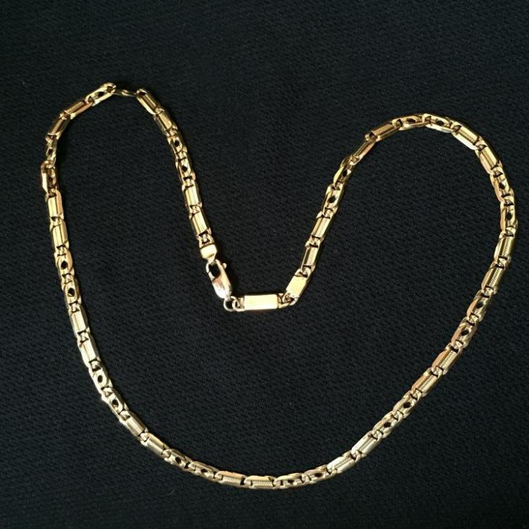 italian gold plated necklace chain