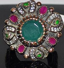 Vintage Emerald and Ruby Ring