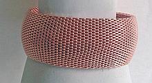 Neiman Marcus Rose Gold Mesh Bangle Bracelet
