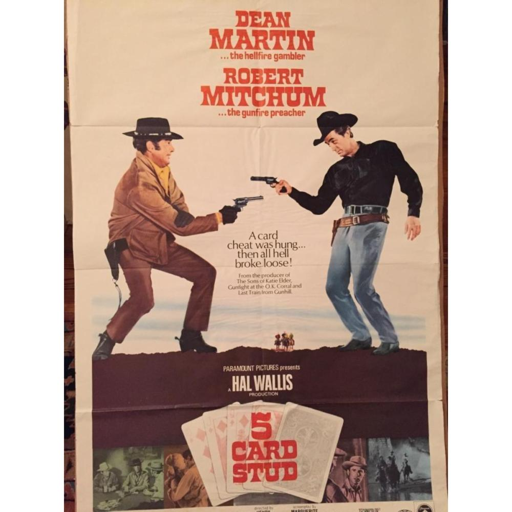 Lot  Western Movie Poster 5 Card Stud