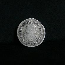 Charles III portrait silver coin, 1785