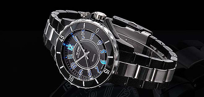 Sport Backlight Rotatable Dial Wrist Watch