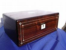 Regency Rosewood Box w/ Mother of Pearl Inlay.