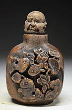Archaize Chinese Hand Carved Snuff Bottle