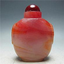 Chinese Hand-carved Agate Snuff bottle