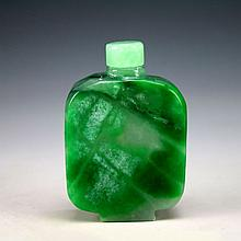 Hand Carved Jade Snuff Bottle