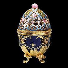 Faberge Inspired Hummingbird Egg