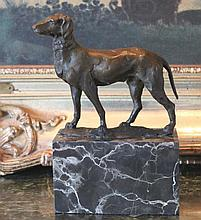 American Fox Hound Bronze Sculpture