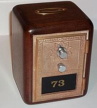 Custom Walnut Post Office Box Bank