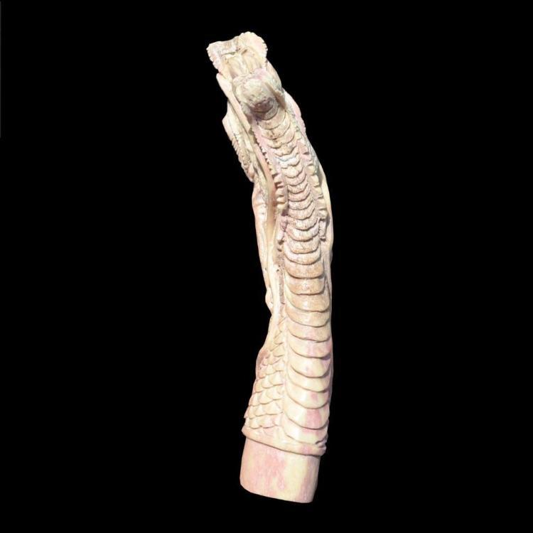 Dragon Elk Shed Deer Antler Carving Blank Blade Dagger Knife