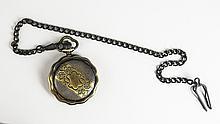 Men's Bronze Pocket Watch w/ flower
