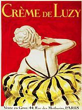French Vintage Poster Creme de Luzy Paris