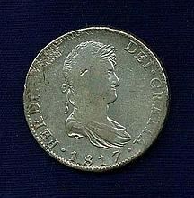 Mexico Spanish Colonial Ferdinand VII Silver Coin