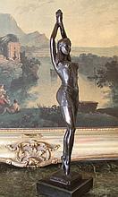 Art Deco Belly Dancer Bronze Sculpture