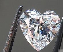 Bianco 2 carat Heart Facet Cut Diamond