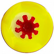 Crimson Splash Plate