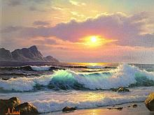 Anthony Casay oil on canvas seascape.