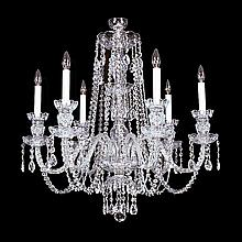 6-light Crystal, Silvertone Swarovski Chandelier.