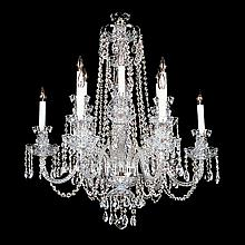 12-light Crystal, Silvertone Swarovski Chandelier.