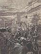 ORIGINAL Antique PRINT scene-WAR IN ANCIENT TIMES