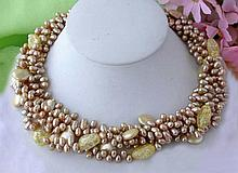 RICE & COIN PEARL NECKLACE