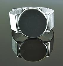 Contemporary Watch With Mesh Band & Led